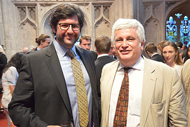 Keith Boyfield with Dr Mitchell Belfer, President of the Euro Gulf Information Centre, Rome at the Margaret Thatcher Lecture held at the Guildhall, London in July 2016
