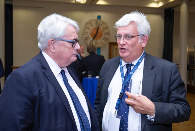 Keith discussing Brexit with Frank Clarke, the Chief Justice of Ireland, Dublin International Financial Centres Summit, October 2018